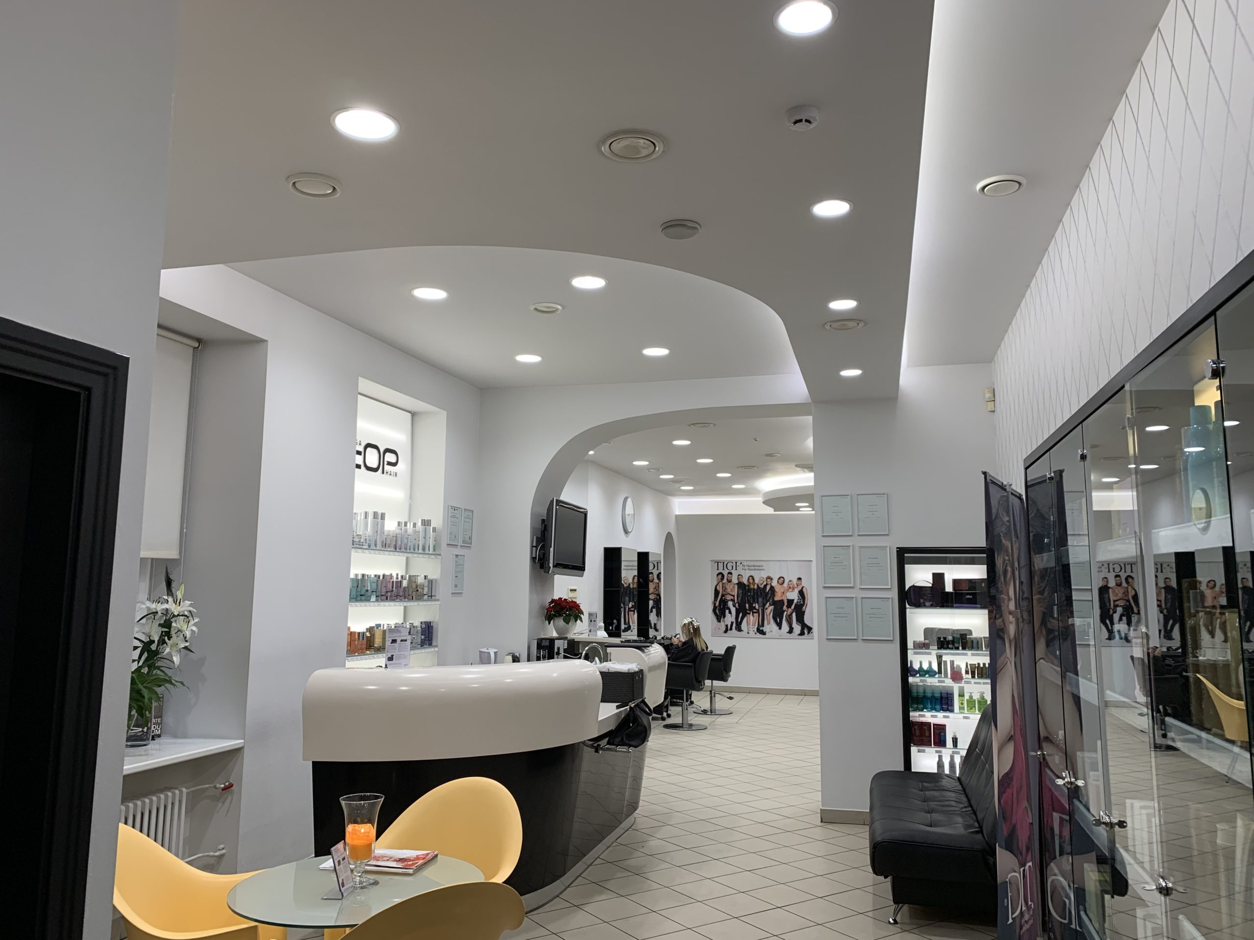 "Philips luminaires for beauty salon ""Rīga Top Hair"""
