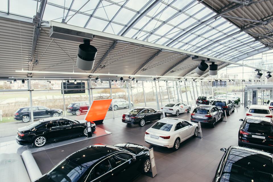 "Philips Led spots for Audi center ""Moller Auto"""