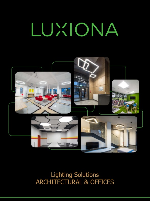 LUXIONA architectural & offices lighting solutions leaflet