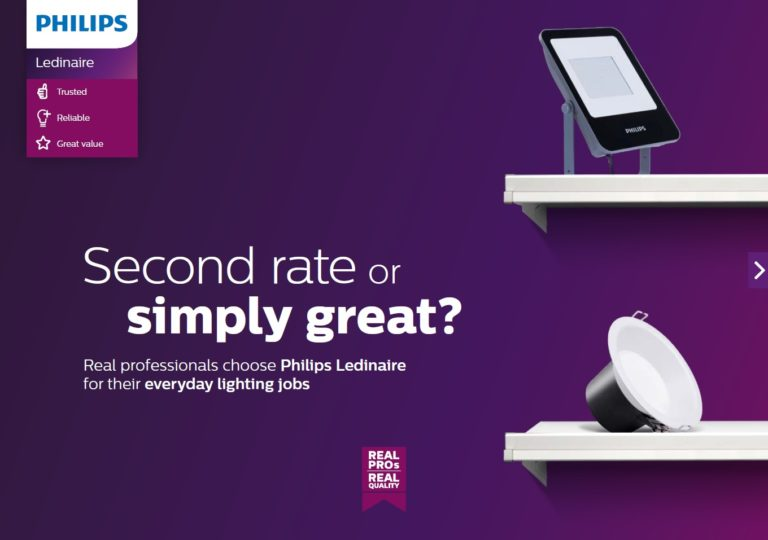 "Philips ledinaire ""Second rate or simply great"" leaflet"